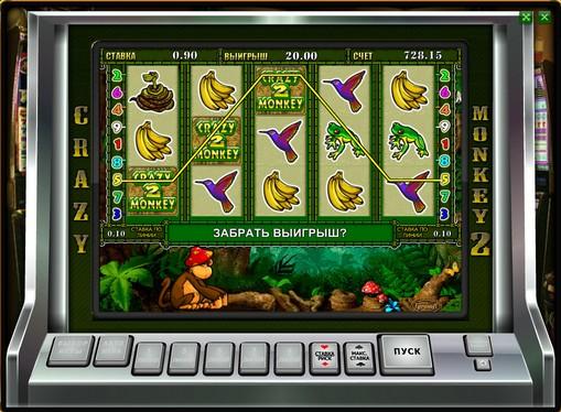 Bonus combination of slot Crazy Monkey 2