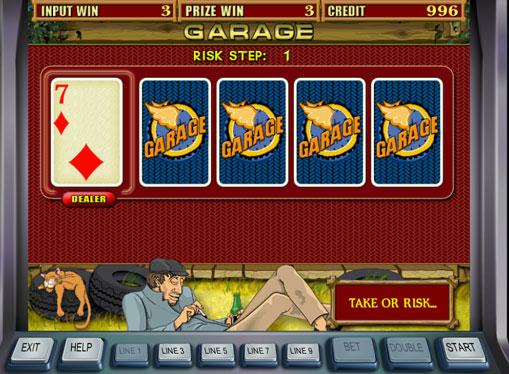 Doubling game of slot Garage