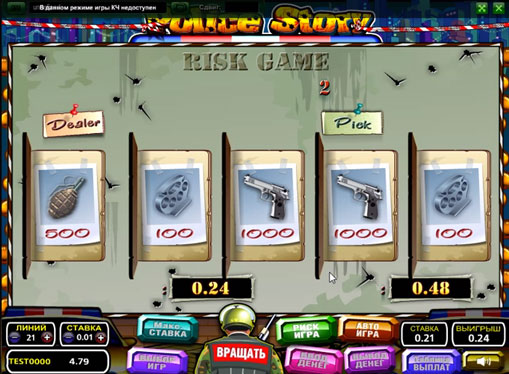 Doubling game of slot Police Story