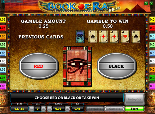 Doubling game of slot Book of Ra Deluxe