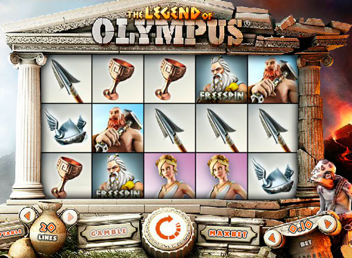 Slot machine Legend of Olympus online for money