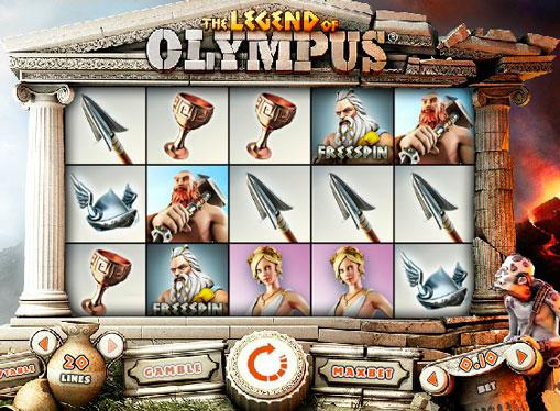 Slot machine Legend of Olympus online for money