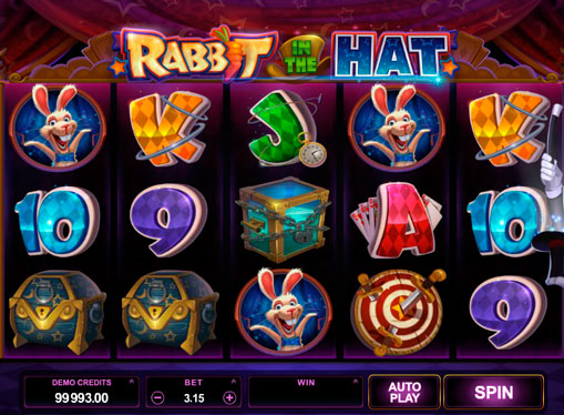 Slot Machines for real money - Rabbit in the Hat