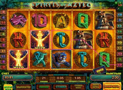 Spirits Of Aztec Slot Machine