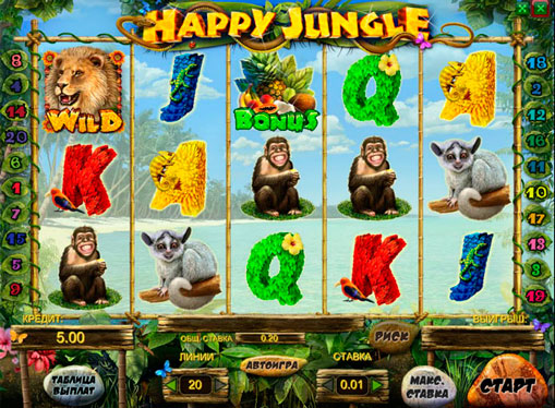 Happy Jungle Play the slot online