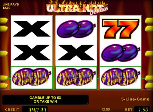 The signs of slot Ultra Hot Deluxe