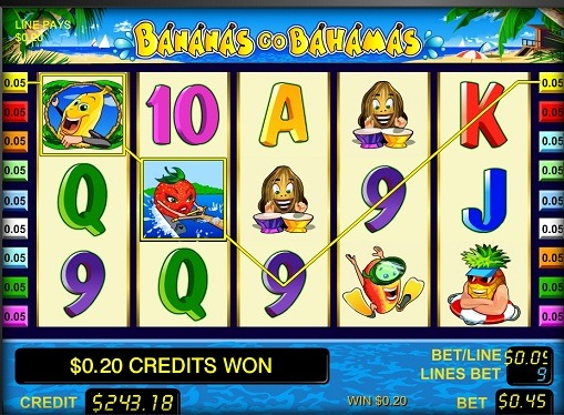 The reels of slot Bananas go Bahamas