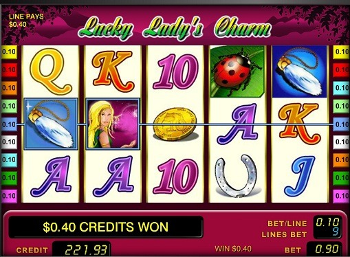 The reels of slot Lucky Lady's Charm