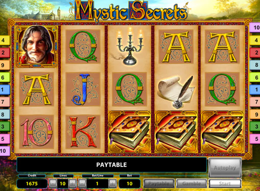 The reels of slot Mystic Secrets Deluxe