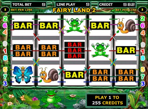 The reels of slot Fairy Land