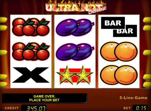 The reels of slot Ultra Hot Deluxe