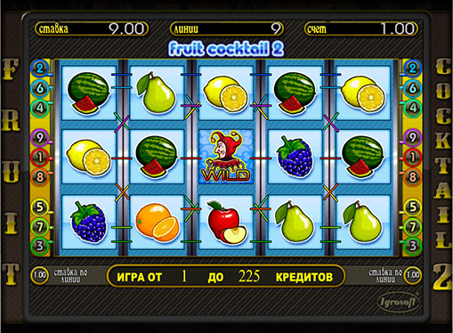 The reels of slot Fruit Cocktail 2