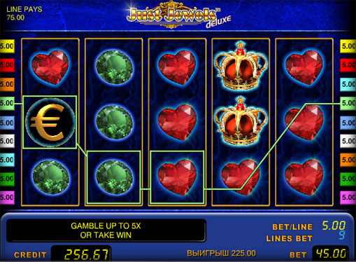 Just Jewels deluxe Play the slot online