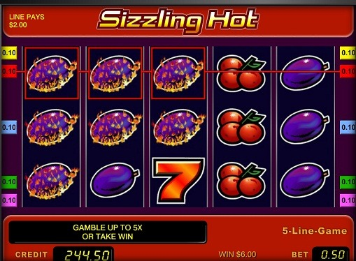 The reels of slot Sizzling Hot